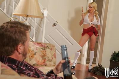 Ass fucking scene featuring blonde milf pornstar Stormy Daniels