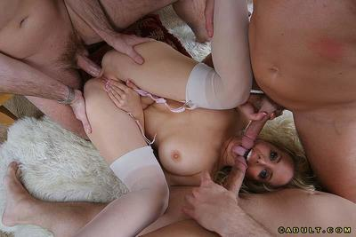Chubby milf Kara Nox has a lot of exciting double penetration today