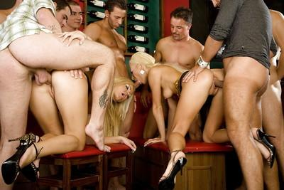 Lascivious european blonde vixens are into hardcore groupsex