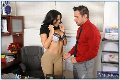 Gorgeous MILF Luna Star blows and fucks her office mate
