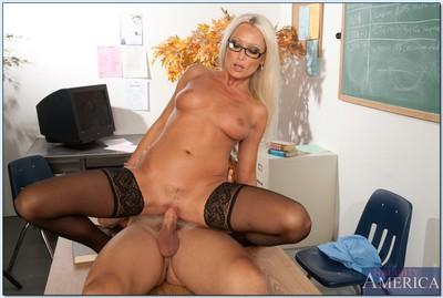 MILF teacher in glasses Diana Doll spreads her legs for hardcore fuck