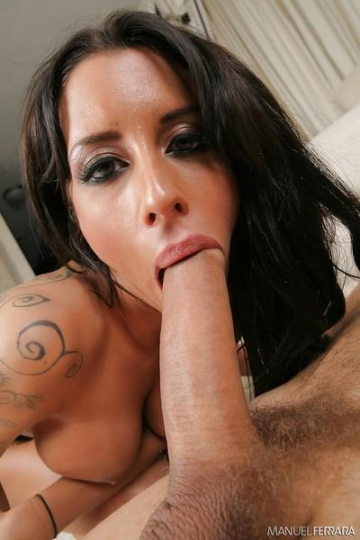 Latina whore Mya Nichole taking two hung studs in cunt and asshole