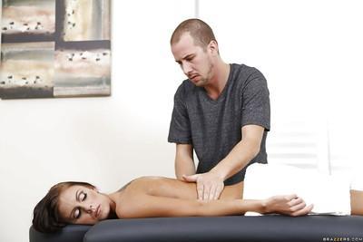 Milf pornstar Whitney Westgate enjoys relaxing massage before hardcore fuck