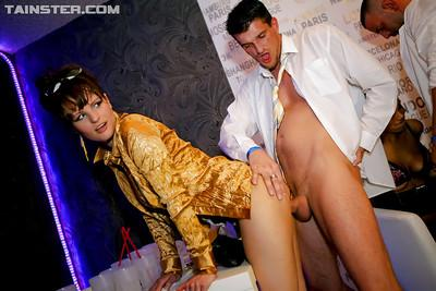 Lascivious MILFs sucking and fucking hard cocks at the sex party