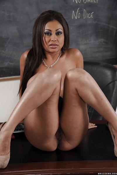 Indian MILF teacher Priya Anjali Rai feeling her wet slit in the class