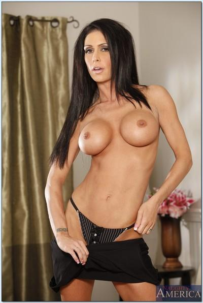 Fabulous MILF Jessica Jaymes demonstrating shapely big tits and butt