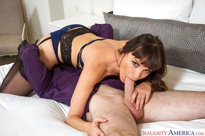 Horny gf type Dana DeArmond born to seduce in stockings and underwear