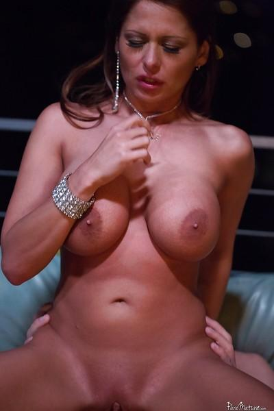 Awesome busty slut Alison Star is riding this very hard rod!