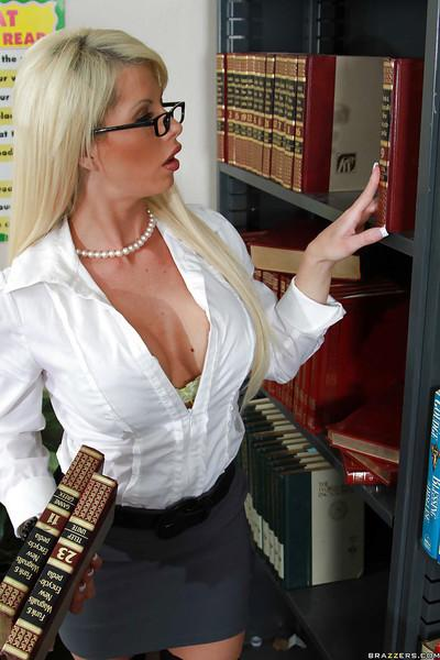 Dirty MILF Brooke Haven with big tits is fucked on a teacher