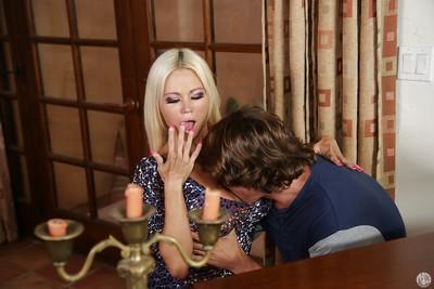 Fantastic cougar Nikita Von James is seducing an younger dude