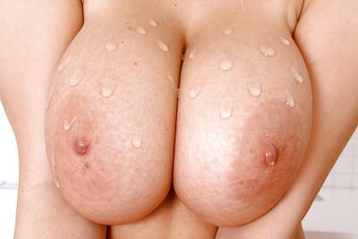 Kathy is pure MILF perfection with her oiled up tits in the shower