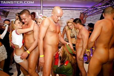 Stupendous party chicks sucking and fucking male strippers
