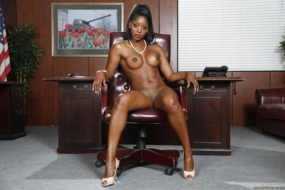 Undressing Ebony milf Diamond Jackson shows off in her lingerie