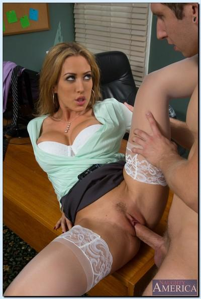 Naughty secretary Capri Cavanni has some hardcore fun with her boss