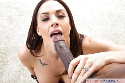 Hot pornstar wife Chanel Preston going down on hubby
