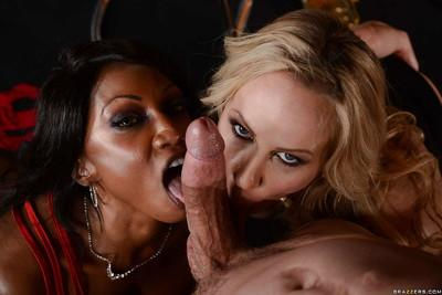 Unbelievable curvy MILFs Diamond Jackson and Simone Sonay fucking hard