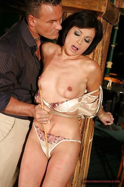 Hot MILF Szilvia Lauren gets roughly tortured and banged hardcore