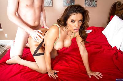 Tanned Latina Francesca Le fucks with a truly wide dick as she love