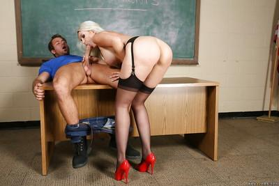 Horny blonde teacher Gigi Allens showing off her glorious boobs