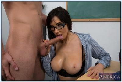 Lecherous teacher in glasses Diana Prince fucks her studly student
