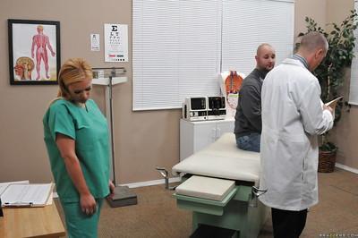 Busty blonde in nurse uniform Shyla Stylez gets shagged hardcore