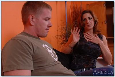 Lusty MILF with pierced clit Christina Noir gets banged by a younger lad