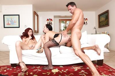 Sweet MILF Bianca Breeze and Ashlyn Molloy are banging in 3some mode