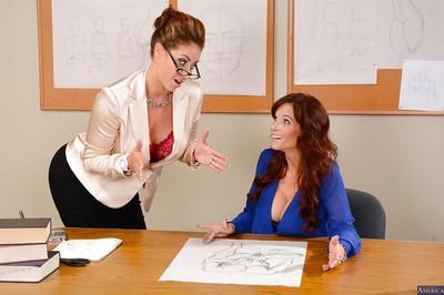 Groupsex features milf teacher Eva Notty and horny babe Syren De Mer