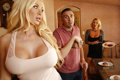 Threesome sex features reality milf wifes Light Darby and Summer Brielle