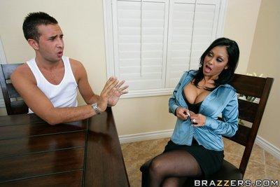MILF wife with big tits Priya Anjeli Rai feels a huge cock in her cunt