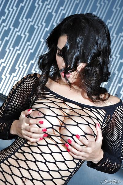 Indian brunette babe Sunny masturbating that shaved pussy
