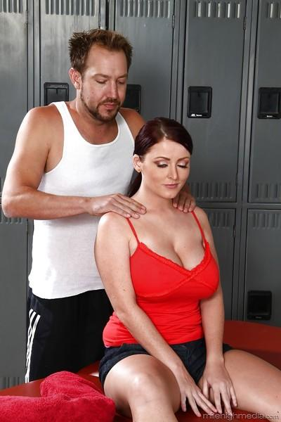 European milf Sophie Dee has her ass massaged hardcore by her lover