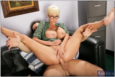 Luxurious office secretary Carly Parker in hardcore anal fucking