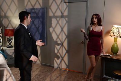Pornstar Monique Alexander taking an anal creampie after ass banging
