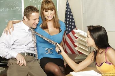 Sweet milf Ava Devine teaching horny teen girl Tanner Mayes