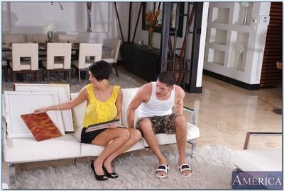 Busty brunette MILF Dylan Ryder getting laid in hot reality action