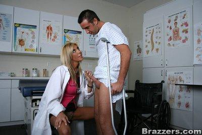 Gorgeous MILF babe Misty Vonage is fucking in doctor