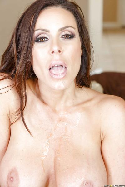 Horny housewife Kendra Lust licks her man