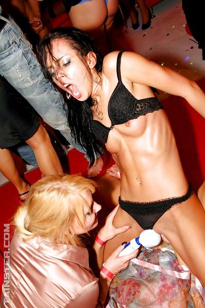 Ravishing babes are into hardcore groupsex at the wild drunk party