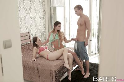 Groupsex scene with a busty milf babe Cathy Heaven and Macy