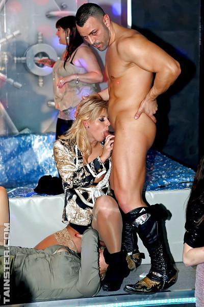 Randy MILFs enjoy a tremendous sex orgy at the drunk club party