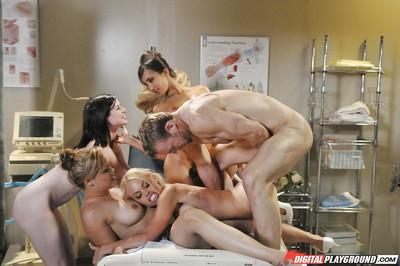 Three perverted beauties are giving a hardcore deep blowjob!