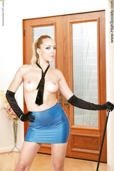 Awesome european blonde Annette showing her ass and big titties