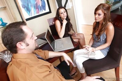 Cute Melanie Rios pleasing Kaylynn and her lovely boyfriend