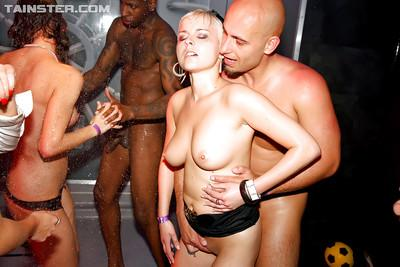 Wooing european MILFs getting naughty and acting saucy at the groupsex party