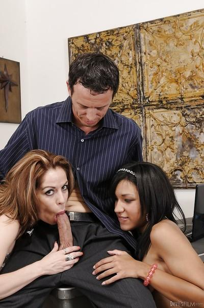 Hardcore threesome action with cocksucking Kora Peters and Tess Morgan