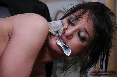Sexy secretary in glasses Andy Brown gets roughly fucked in the office