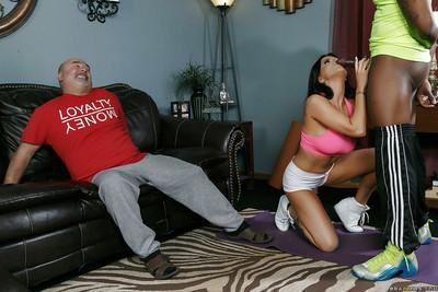 Romanian housewife Romi Rain takes BBC in ass while cuckold husband watches