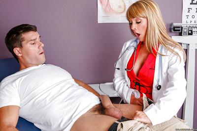 Slutty doctor with big tits Shayla Leveaux sucks and fucks a rigid prick
