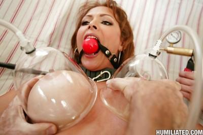 Latina MILF Monique Fuentes getting tied up and banged with BDSM toys